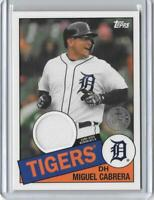 2020 Topps Miguel Cabrera 1985 35th Anniv. Game Used Jersey Relic Detroit Tigers