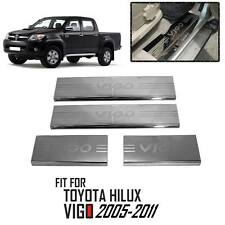 Scuff Plate Stainless Steel 4 Doors Fit For Toyota Hilux Vigo SR5 MK6 2005-2011