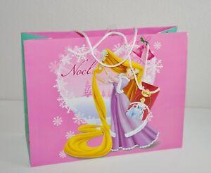 Disney Princess Rapunzel Gift Bag & Tag Glossy Medium Size Christmas Noel New