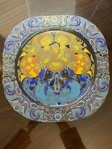 Limited edition Rosenthal Bjorn Wiinblade Weihnachten Glass Designer Plate 1980