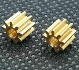 2 Motor Ritzel Zahnrad für Lego Duplo Intelli Lok Modul 0.4 9 Zähne aus Messing