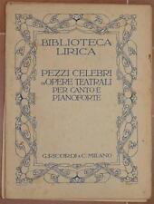 BIBLIOTECA LIRICA I LITUANI AMILCARE PONCHIELLI SPARTITO MUSICA CLASSICA PIANO