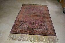 Antique Silk Amoghli Mashad Rug 6.9 x 4.6 - Perfect Condition