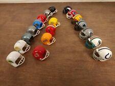 12 Vintage AFC/NFC NFL Mini Gumball Football Helmets + 9 Modern