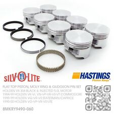 "304+.060"" FLAT TOP PISTONS/MOLY RINGS V8 5.0L [HOLDEN VN-VP-VR-VS-VT COMMODORE]"