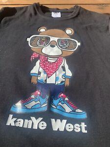 Kanye West Large Print Teddy Bear T Shirt Size Small       #163