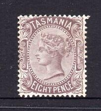 Tasmania: 8d Dull Purple Brown Sideface Qv Sg 158 Perf 14 Wmk Tas Mh