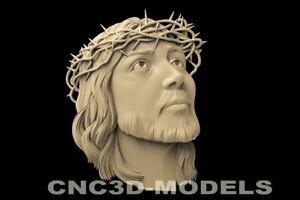 3D STL Model for CNC Router Carving Artcam Aspire Jesus Christ Religion D138
