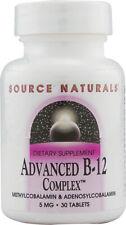 Advanced B-12 Complex, Source Naturals, 30 Tablet