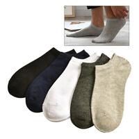 5 pares de hombre calcetines tobilleros de corte bajo antideslizantes de algodón
