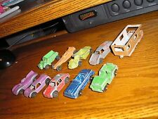 Lot E of 10 Vintage Tootsie Toy Cars Dump Truck Dragster Hot Rod Jeep Porsche