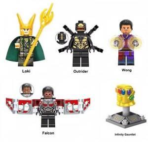 Marvel Super Heroes Building Blocks Infinity Gauntlet Wong Outrider Loki Falcon
