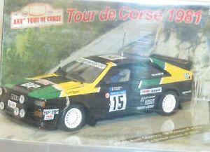 1/43 Audi Quattro  BP  Rally de France Tour de Corse 1981 #15 M.Mouton
