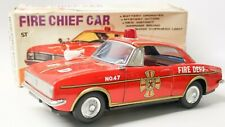 VINTAGE JAPANESE #47 BATTERY OPERATED CHEVROLET CAMARO FIRE CHIEF CAR