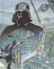 "Star Wars Darth Vader & Luke Skywalker ""I am your father"" art by Cynthia Martin"