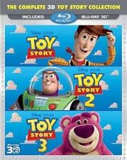 Toy Story 3D Trilogy (Blu-ray 3-Disc Set, 2011) Disney Pixar No Digital 1 2 3