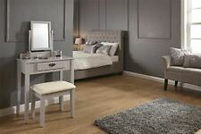 Shaker Style Dressing Table with Mirror and Stool Grey Or White
