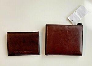 Tommy Hilfiger Brown Genuine Leather Men's Bifold Wallet w/ Passcase (NWT)