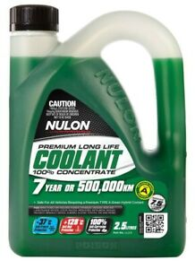 Nulon Green Premium Long Life Coolant 100% Concentrate 2.5L fits Renault 8 1....