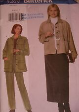 VINTAGE 1997 NEW BUTTERICK JACKET,SKIRT+ PANT SEWING PATTERN 5269 SIZES 8-12