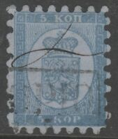Finland 4 Kupio High Box Cancel + Manuscript Scarce ! 5 Kop 1860! - §