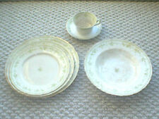 vintage FURNIVALS 19th Century China,WALDEN-Green PLACE SETTING