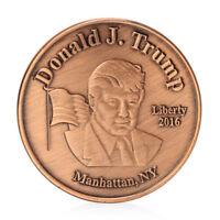 USA PRESIDENT DONALD TRUMP 2016 NOVELTY COIN GREAT MEMENTO BRONZE FREE CAPSULE