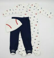 Carter's Baby Boy 3 Piece Sports Sleeper Pants Hat Outfit Set Size 9 Months