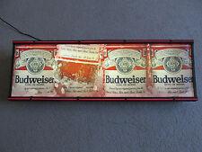 """49"""" Vintage Budweiser King of Beer Alcohol Beverage Lighted Bar Sign Man Cave"""