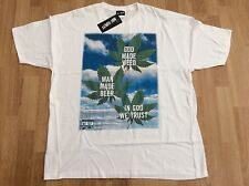 "MENS NOT GUILTY "" GOD MADE WEED "" MAN MADE BEER "" T-SHIRT WHITE SIZE XL"