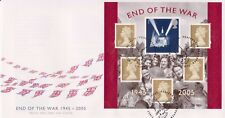 UNADDRESSED PEACEHAVEN PMK GB ROYAL MAIL FDC COVER 2005 END OF THE WAR M/S SHEET