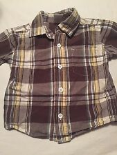 Gymboree Boys Short Sleeve Button Up Shirt Size 6-12 Months Brown