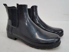 Hunter Women's Original Chelsea Black Ankle-High Rubber Rain Boot Sz EU 39 US 8M
