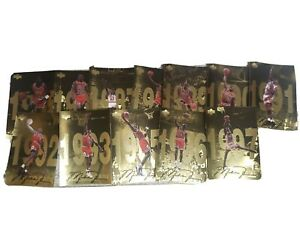1998 Upper Deck Michael Jordan Gold Jumbo Card COMPLETE set of 12