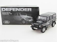 1:18 DORLOP Land Rover Defender 110 One Ten Black+Flags Decals+Shovel RHD NEW ED