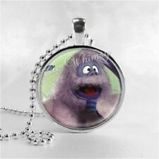 Christmas Necklace Bumble Abominable Snowman Rudolph Handmade Glass Jewelry