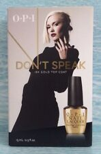 OPI Gwen Stefani DON'T SPEAK 18K GOLD Nail Polish Top Coat Ltd Ed Collector's