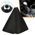 Car Shift Knob Shifter Boot Cover Black Diy Pvc Leather Mt At Sport Universal