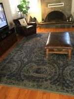 Persian hand tufted Printed Blue 5X8 8X10 9X12 wool area rugs BROUTBL9