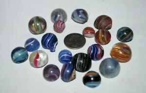 GB***antique German marbles fragments, pieces