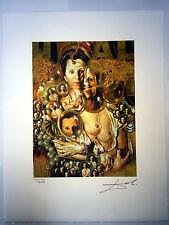 Salvador Dali Litografia 50 x 65 Bfk Rives Timbro a secco Firmata a Matita D120