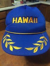 Vintage Hawaii Hat Snapback Trucker Mesh Gold Leaf Hat