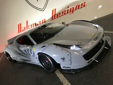 CUSTOM 1/10 TAMIYA  LB PERFORMANCE LIBERTY WALK 458 RC BODY SHELL,