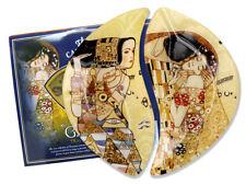 2 Gustav Klimt Schalen 1.Wahl Glasschale 21cm Platte Der Kuss Die Erwartung