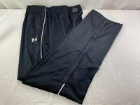 Under Armour Basketball Mens Black Atom Pattern Track Pants Loose XL Training