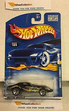 Corvette Stingray #135 * Black w/ 5sp Rims * 2001 Hot Wheels * K20