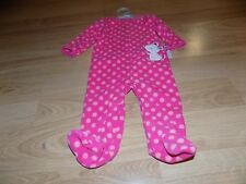 Infant Size 6-9 Months Child of Mine Carter Pink Polka Dot Mouse Footed Sleeper