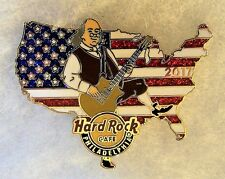 HARD ROCK CAFE PHILADELPHIA BEN FRANKLIN PLAYING GUITAR USA FLAG PIN # 94229