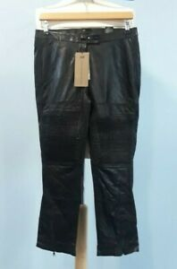 NEW H&M Ladies LEATHER Trousers Size 10
