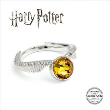 cf58fce8c Sterling Silver 925 Swarovski Elements Crystal Harry Potter Golden Snitch  Ring Large - Size 8